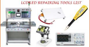 lcd led repairing tools list