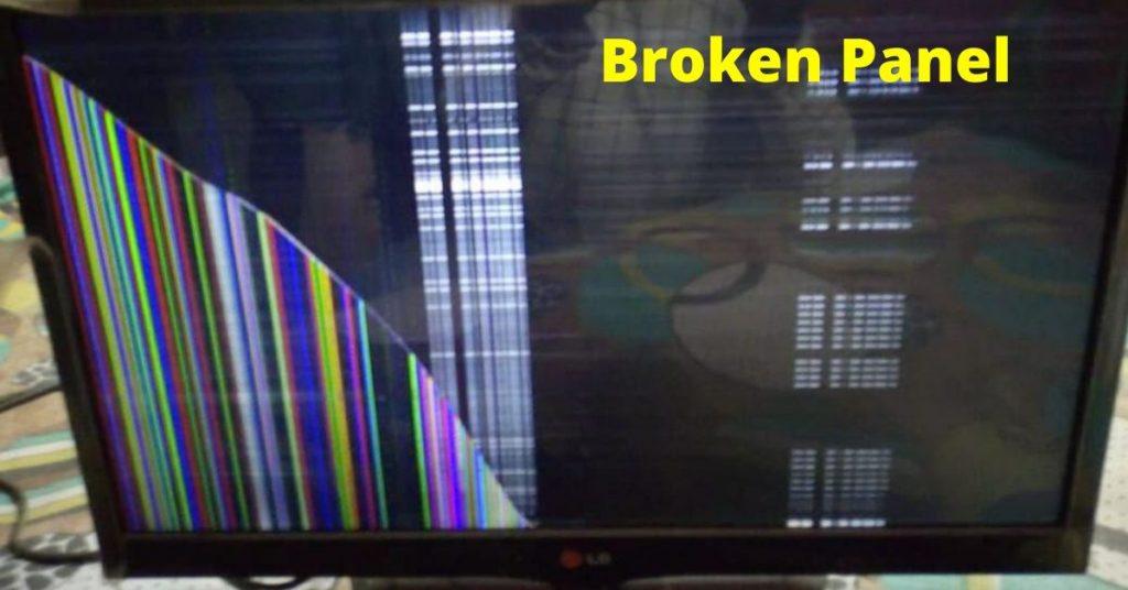 Repair LED TV Broken Panel