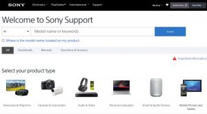 sony tv software downloading site