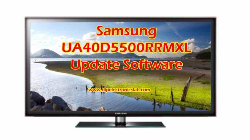 Samsung UA40D5500RRMXL Update Software