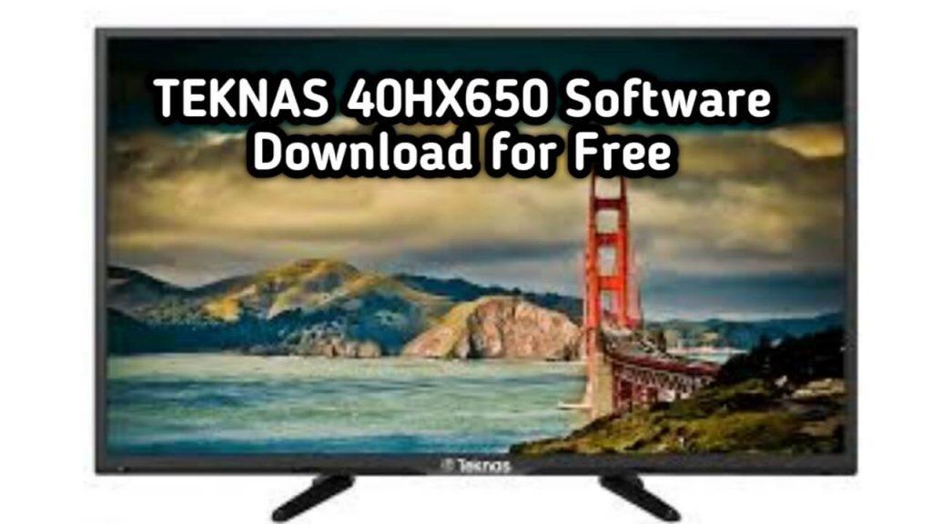 TEKNAS 40HX650 Software